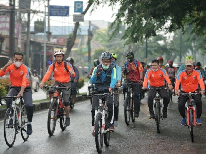 Mencegah Penularan Covid-19, Pjs Walikota Medan Ajak Bersepeda