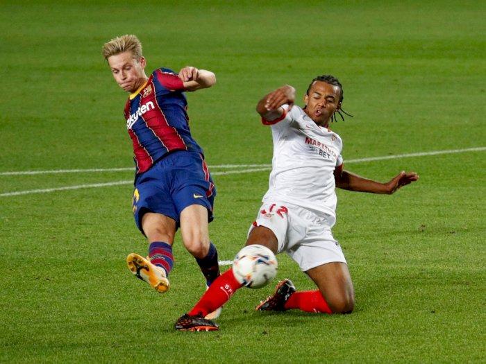 FOTO: Liga Spanyol: Barcelona Harus Puas Berbagi Poin Dengan Sevilla