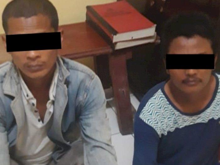 Tengah Asyik Isap Sabu di Belakang Rumah Warga, 2 Pria di Deli Serdang Diringkus Polisi