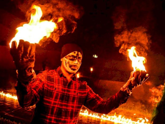 Festival Bola Api, Memperingati Letusan Gunung Berapi di Nejapa