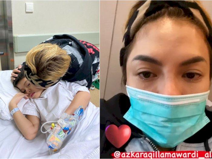 Nikita Mirzani Tak Mampu Bendung Air Mata Temani Anak Operasi Usus Buntu