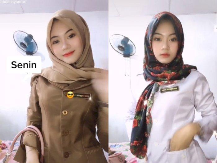 Guru Cantik ini Pamer Outfit Saat Dirinya Mengajar, Bikin Netizen Pangling