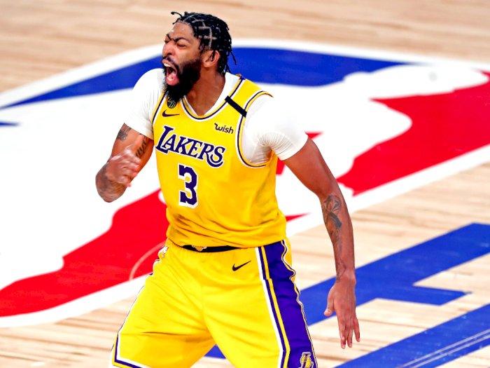 FOTO: Lakers Mengalahkan Heat di Game 4 Final NBA, Memimpin Seri 3-1