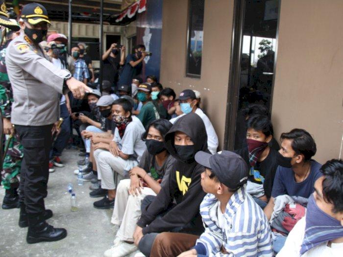 89 Remaja Niat Rusuh di DPR Diamankan Polres Jakarta Barat, 2 Positif Corona