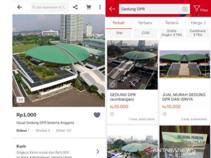 Penjualan Gedung DPR yang Sempat Masuk Aplikasi Belanja Online Kini Sudah Dihapus