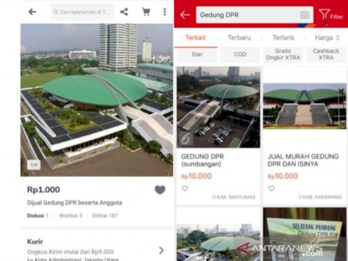 Gedung DPR Dijual di Aplikasi Online, Sekjen: Polisi Harus Tindak Tegas