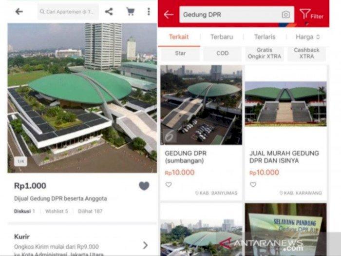Heboh Gedung DPR Dijual di Online Shop, Mabes Polri: Kita Selidiki