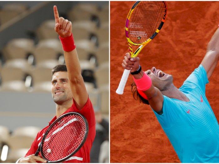 FOTO: Prancis Terbuka 2020: Djokovic Tantang Nadal di Final