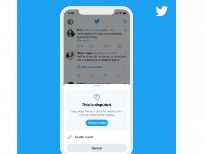 Jelang Pemilu AS, Twitter Tambah Label Peringatan