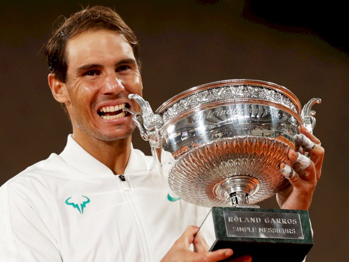 FOTO: Rafael Nadal Juara Prancis Terbuka 2020