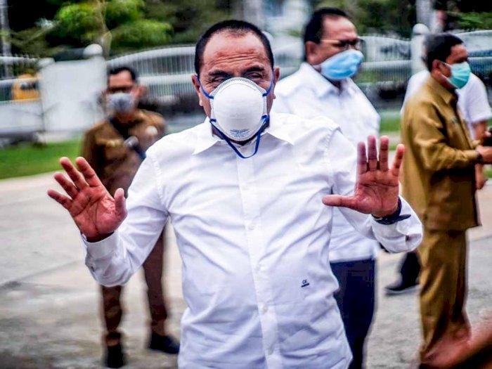 Di Depan Massa Demo, Gubernur Sumut Mengaku Belum Tahu Isi UU Omnibus Law