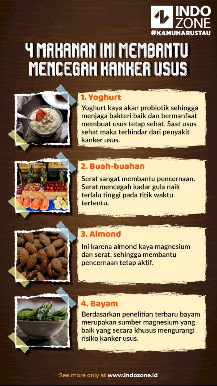 4 Makanan Ini Membantu Mencegah Kanker Usus