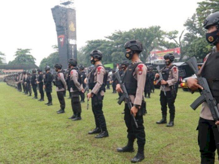 Ketika Brimob Nusantara Terjun Kawal Aksi Demo Omnibus Law Jakarta Hari Ini