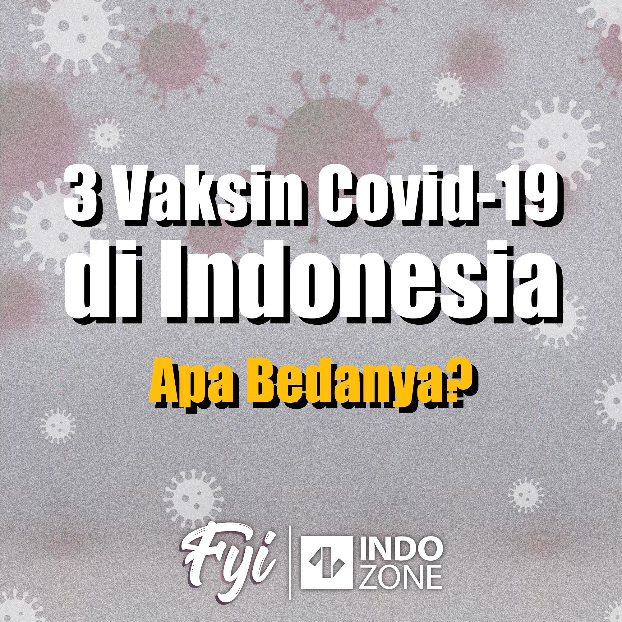 3 Vaksin Covid-19 di Indonesia, Apa Bedanya?