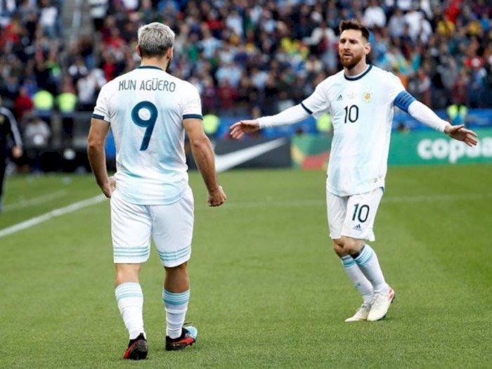 Bercanda, Aguero Ibaratkan Dia dan Messi Seperti Pasangan yang Sudah Nikah