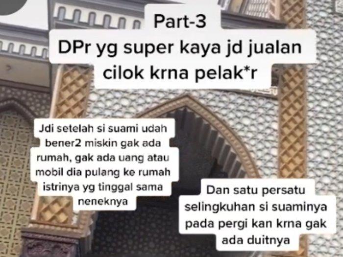 Kisah Nyata, Anggota DPR Doyan Selingkuh, Perusahaan Bangkrut hingga Akhirnya Jualan Cilok