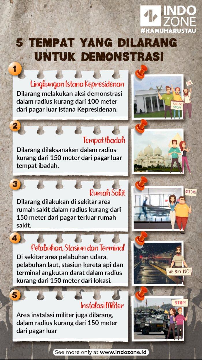 5 Tempat yang Dilarang untuk Demonstrasi