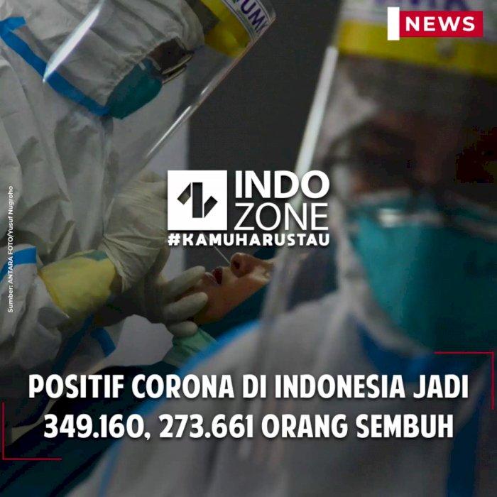 Positif Corona di Indonesia Jadi 349.160, 273.661 Orang Sembuh