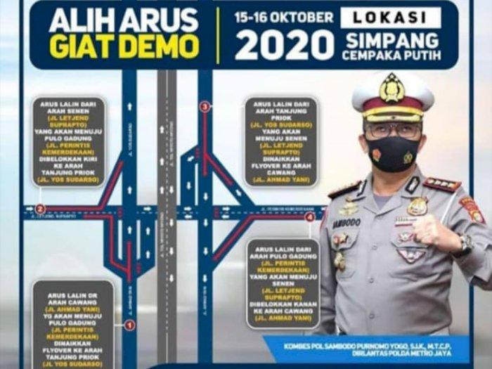 Ada Demo Buruh di Jakarta Hari Ini, Berikut Rekayasa Lalu Lintasnya
