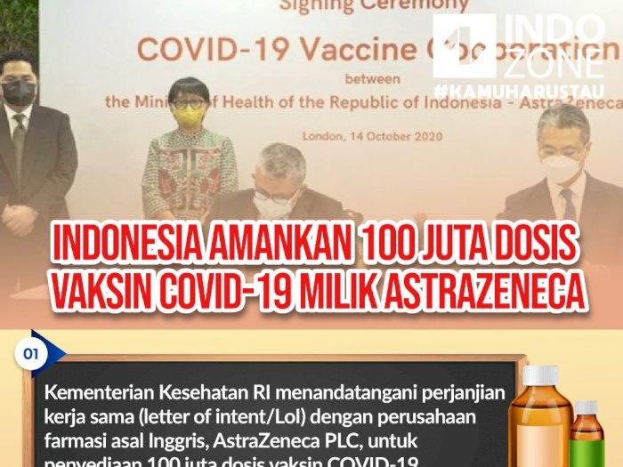 Indonesia Amankan 100 Juta Dosis Vaksin COVID-19 Milik AstraZeneca