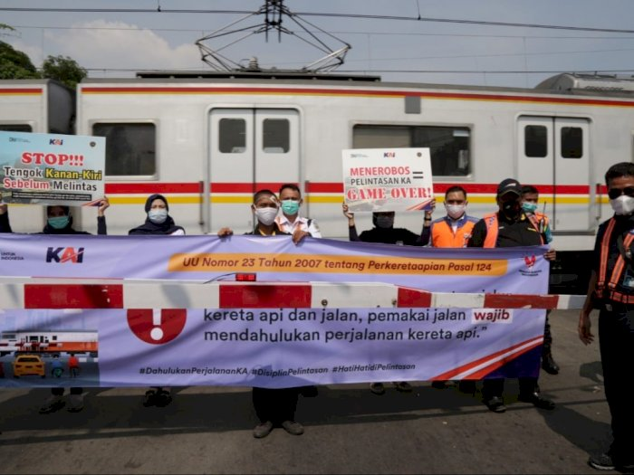 PT KAI Daop 1 Jakarta: Terjadi 17 Kecelakaan di Perlintasan Kereta Api Sepanjang 2020