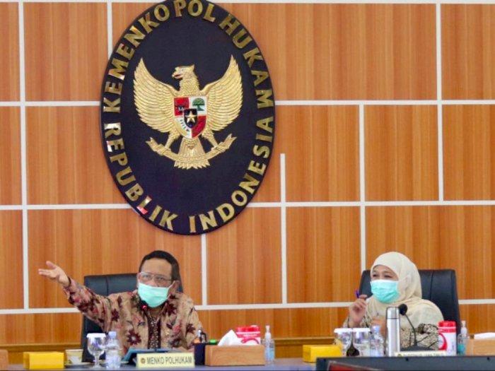Sampaikan Aspirasi Omnibus Law, Gubernur Khofifah Antarkan Buruh Jatim Temui Menkopolhukam