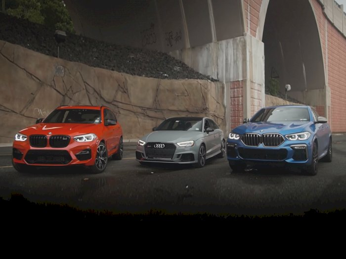 Melihat Drag Race Antara BMW X3M Competition, Audi RS3, dan BMW X6 M50i
