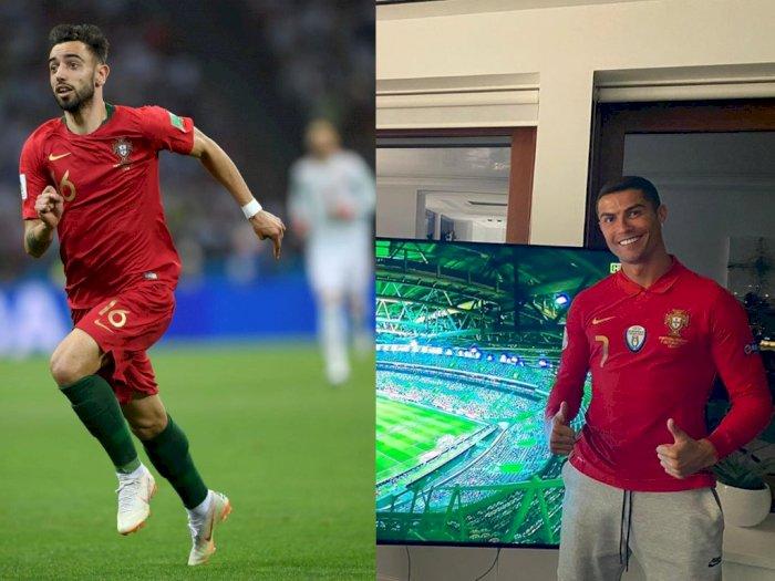 Soal Absennya Ronaldo dari Portugal, Bruno Fernandes: Ambisi Kami Tetap Sama