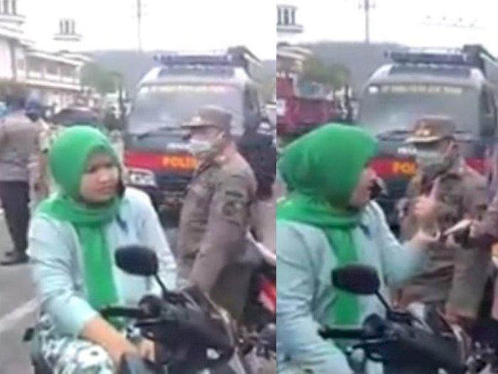 Viral, Ibu-ibu Ngaku Orang Medan Istri Jaksa Marah-marah Karena Terjaring Razia Masker