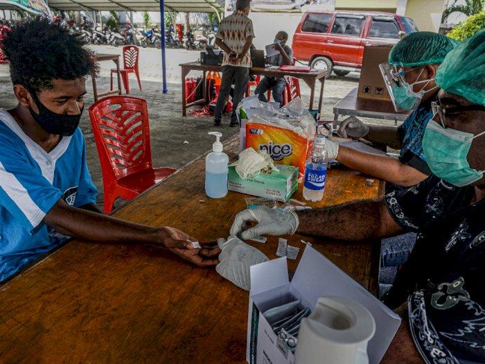 FOTO: Rapid Test Jelang Peresmian Venue PON XX