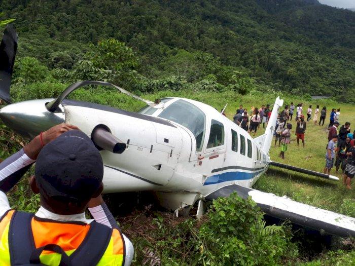 Pesawat Pembawa Makanan Gagal Landing di Paniai Papua, Begini Kronologinya