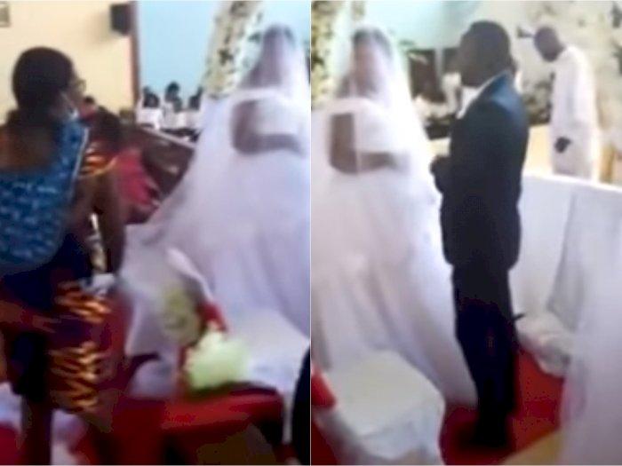 Sambil Gendong Anak, Wanita Ini Labrak Suaminya dan Pelakor yang Menikah Diam-diam