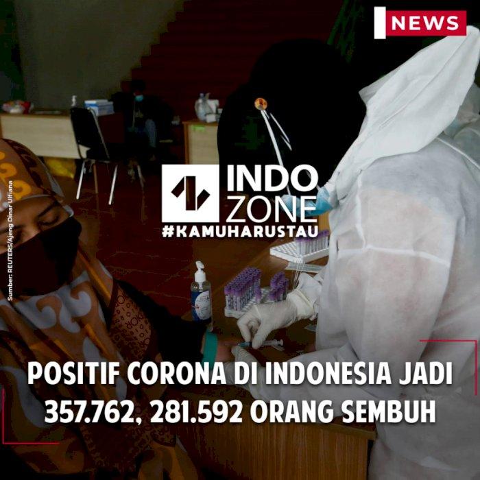 Positif Corona di Indonesia Jadi 357.762, 281.592 Orang Sembuh