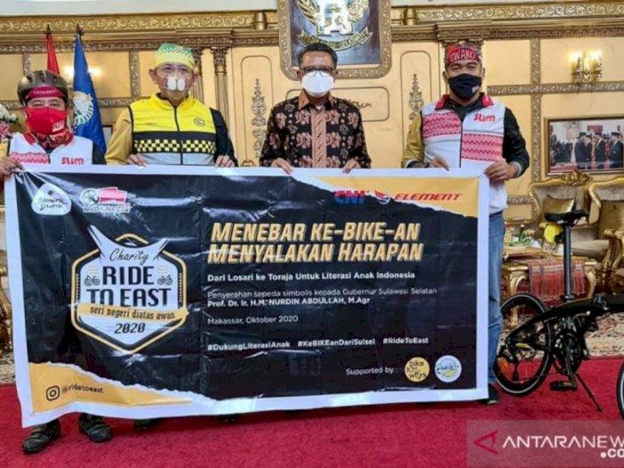Hidup Sehat, Gubernur Sulawesi Selatan Ajak Masyarakat Jadikan Sepeda Sebagai Transportasi
