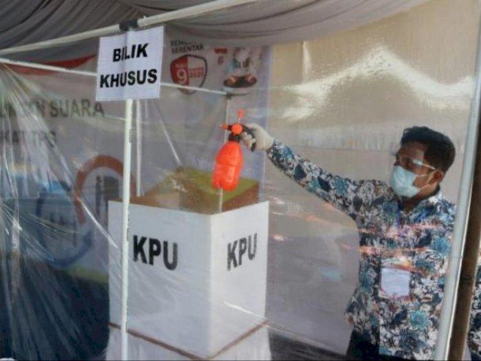 KPU Medan Gelar Simulasi Pencoblosan dengan Penerapan Protokol Kesehatan