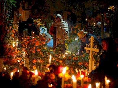 Perayaan Mexico's Day of the Dead  di Tengah Pandemi Berjalan Sepi