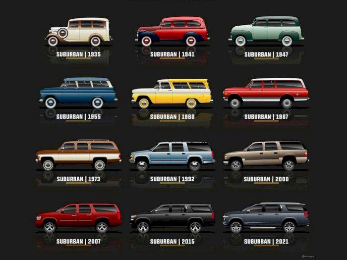 Melihat 12 Generasi Mobil Chevrolet Suburban dari Model Tahun 1935-2021