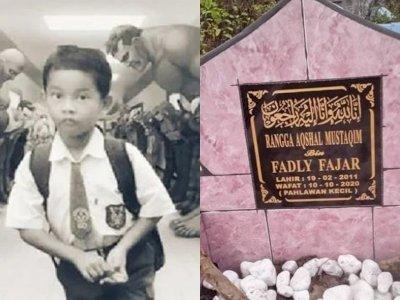 Tewas Demi Selamatkan Ibunya yang Diperkosa, Ada Tulisan 'Pahlawan Kecil' di Makam Rangga
