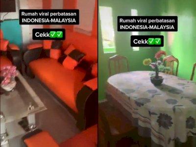 Viral Rumah Warga di Perbatasan, Ruang Tamu di Wilayah Indonesia, Dapur di Malaysia