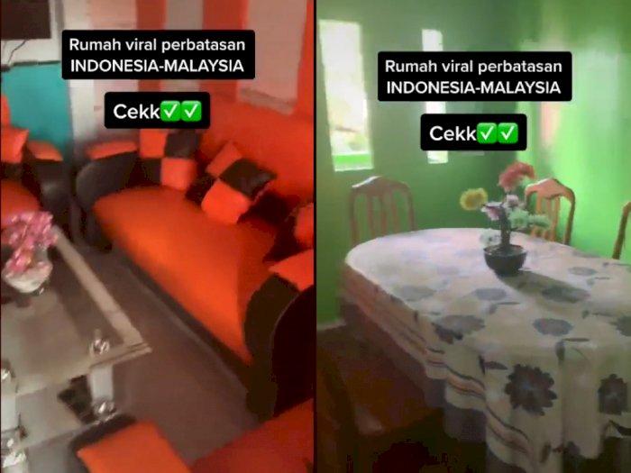Viral Rumah Warga di Perbatasan, Ruang Tamu di Wilayah Indonesia, Dapurnya Ada di Malaysia