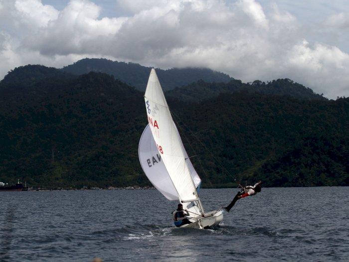 FOTO: Latihan Atlet Cabang Olahraga Layar Sumatera Barat