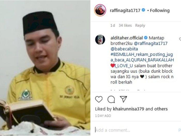 Tinggalkan Komentar di Unggahan Foto Liburan Raffi Ahmad, Aldi Taher Diserang Netizen