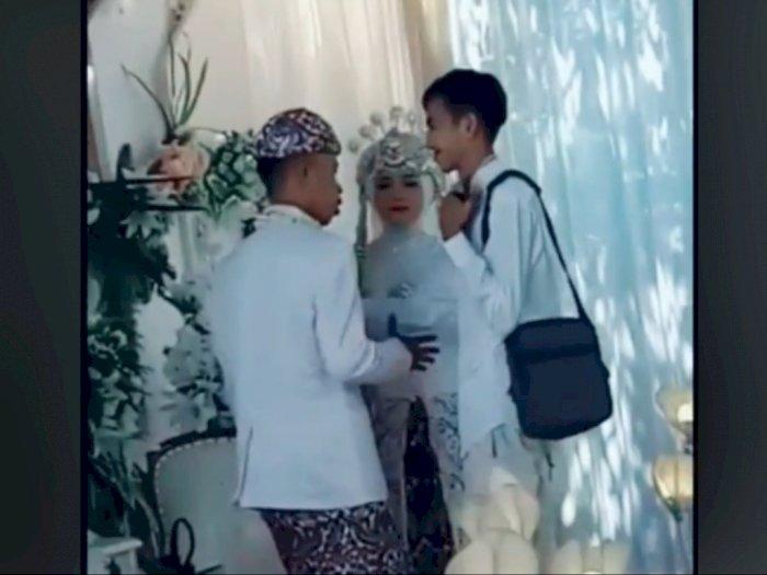 Pria Nampak Tegar Hadiri Pernikahan Mantan Istri, Reaksi Pengantin Wanita Jadi Sorotan