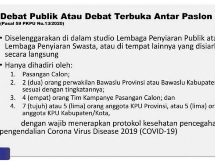 Begini Penerapan Protokol Kesehatan saat Debat Kandidat Calon Wali Kota Medan