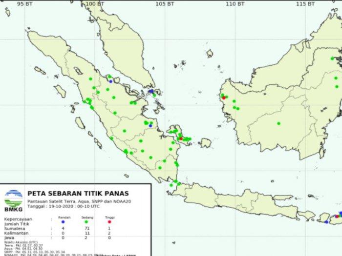 BMKG: Ada 34 Titik Panas yang Terdeteksi di Sumatera Utara
