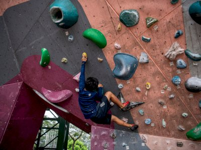 FOTO: Pembentukan Atlet Muda Panjat Tebing Sumatera Selatan