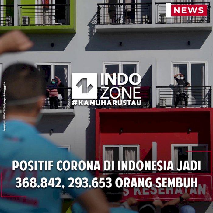 Positif Corona di Indonesia Jadi 368.842, 293.653 Orang Sembuh