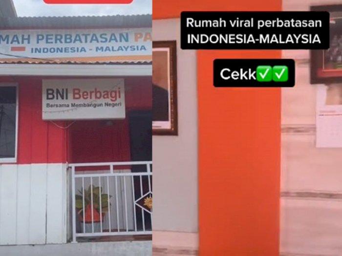 Viral Rumah Lintas Negara, Ruang Tamunya di Indonesia, Dapurnya di Malaysia
