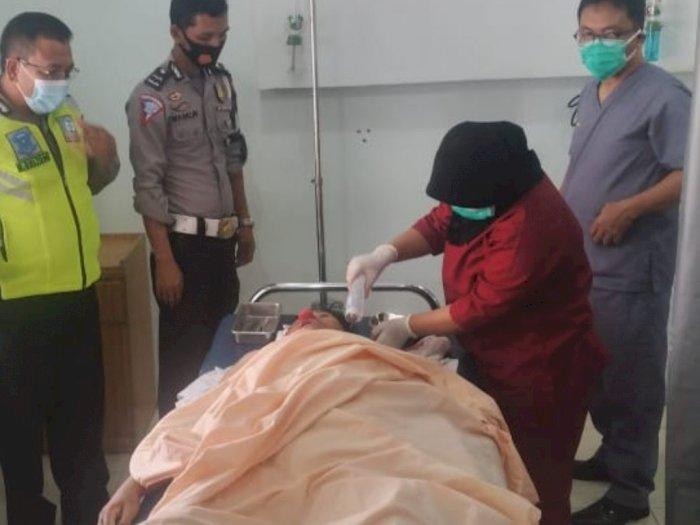 Oleng Saat Berkendara, Seorang Guru PNS di Deli Serdang Terjatuh di Jalinsum Lubuk Pakam