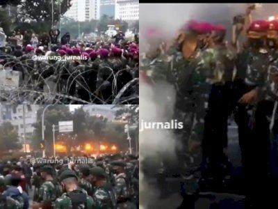 Video Tentara Kawal Demonstran saat Bubar dari Demo Omnibus Law, 'Terima Kasih Bapak TNI'